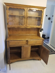 Solid Walnut Hutch For Sale