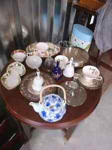 Antique China And Silver Plated Trays Kitchener / Waterloo Kitchener Area image 1