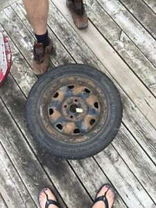 Winter tires plus rims Kitchener / Waterloo Kitchener Area image 1