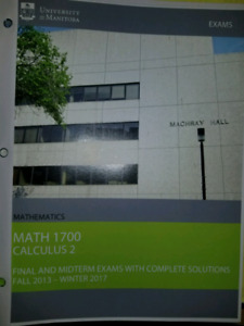Math 1700 (Calc 2) Past exams and solutions
