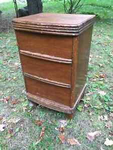Art Deco bedside table with drawers