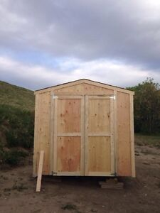 QUALITY BUILT STORAGE SHEDS! Built on site in one day !