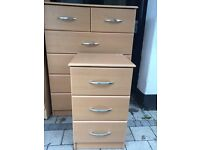 Chest drawers and bed side