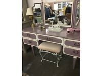 Purple dressing table
