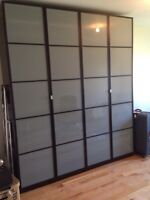 Two Large IKEA Pax Wardrobes