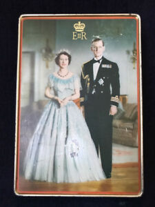 1950's Queen Elizabeth & Duke of Edinburg  Tin Sharp & Sons LTD