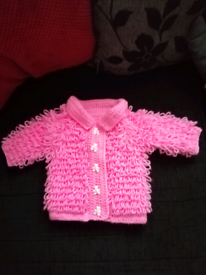 New baby loopy cardigan