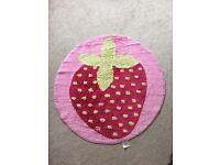 90cm Next pink strawberry child's bedroom rug