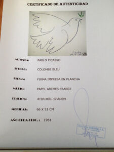 Picasso hand proofed LE registered lithos 1961 & 1958