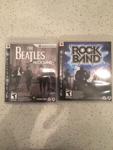 Beatles and original rock band ps3