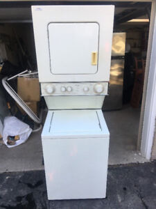 "Whirlpool thin twin white 24"" 1 piece washer electric dryer 395"