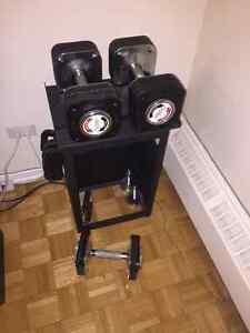 Adjustable dumbells set 5 lbs to 60 lbs
