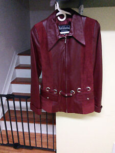 Brand new medium leather jacket.