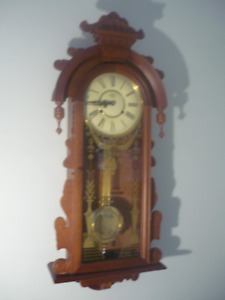 All-Wood Pendulum Hanging Wall Clock with Chime