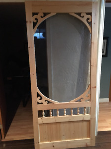 Wooden screen door 36 inch