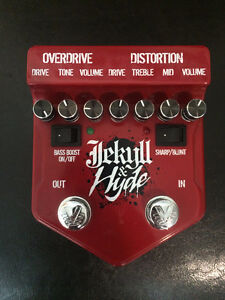 Jekyll and Hyde overdrive/distortion pedal