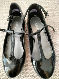 Girls black shoes from next, size 1