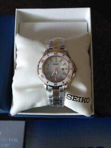 NEW Seiko SUT338 Mother-Of-Pearl, 8 Genuine Diamonds Watch