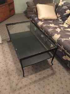 NEW BLACK WOUGHT IRON COFFEE TABLE AND END TABLES Regina Regina Area image 4