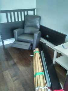 Bedroom set - bed frame, 2 dressers and 2 night stands OBO