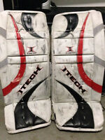 "Jambières de gardien hockey goalie pads - Itech X-Factor 28+1"""