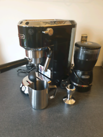 Delonghi coffee machine plus accessories