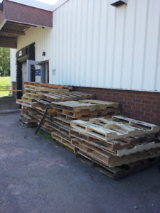 Pallets to give away at Pembroke Regional Hospital Warehouse