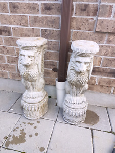 Two cement pieces