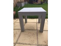 Chunky solid wood coffee table painted grey