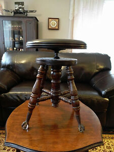 3 ANTIQUE PIANO STOOL