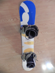 olive snowboard with burton bindings& boots for sale