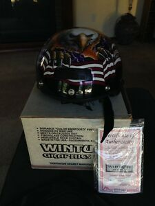 Wintune Graphics Harley Motorcycle Half Helmet Limited Edition