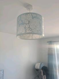 Blue lamp shade