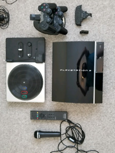 PS3 and accessories.