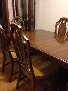 Gibbard Solid Cherry Wood Dining Set (+ 6ch, cabinet, buffet)
