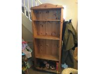 Wooden bookcase or display case