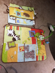 Crib Blanket and bumpers