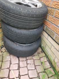 4 Alloy car wheels