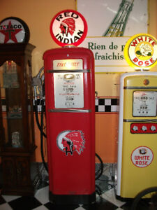Red Indian Gilbarco pompe a essence gas pump