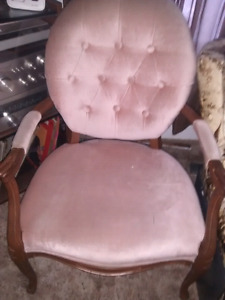 Victorian Chair - Reupholstered Stool-Glider