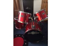 Drum set. Gear for music. Perfect for age 6 upwards. Great condition