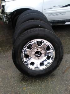 """8x170, 2015 f350 20"""" factory rims, michelin tires  load range E"""