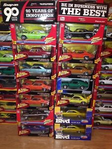 Hundreds of diecast cars and motorcycles