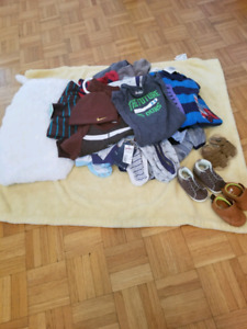 15 pairs of baby clothes,baby blanket and 3 pairs of baby shoes