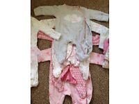 Newborn baby girl bundle.