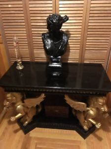 Solid Mahogany Wall Table or Podium ONLY 1 MADE