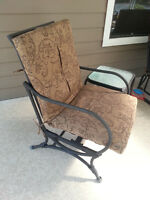 Patio chair and side table
