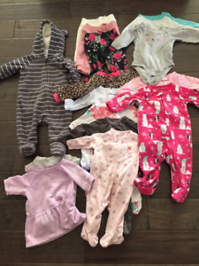 45 pieces! Baby girl lot 0-12M