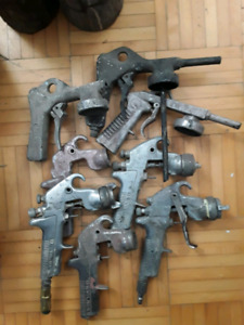 Spray paint guns and spare parts