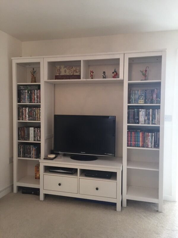 Ikea Hemnes White Tv Storage Unit In Cwmbran Torfaen